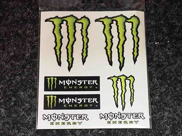 Afbeelding van Sticker vel Monster energy 7 delig