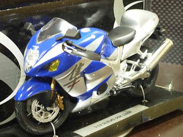 Picture of Suzuki GSX-R1300 Hayabusa grey/blue 1:12 600201
