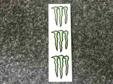 Afbeelding van Sticker vel Monster energy 3 delig