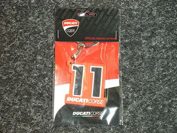 Picture of Ben Spies keyring sleutelhanger Ducati