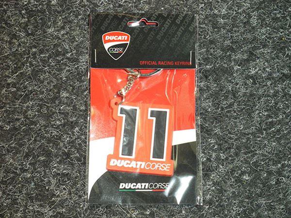 Picture of Ben Spies keyring sleutelhanger Ducati