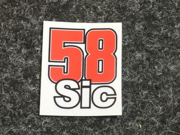 Picture of Marco Simoncelli sticker SIC 58