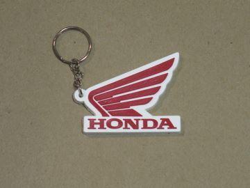 Picture of Honda Wing sleutelhanger keyring red
