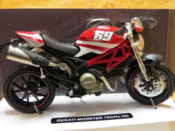Afbeelding van Ducati Monster 796 Nicky Hayden replica 1:12 57523