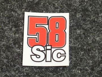 Picture of Marco Simoncelli sticker 58 SIC