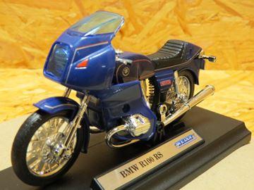 Afbeelding van BMW R100RS R100 RS 1:18 blauw 19673 Welly
