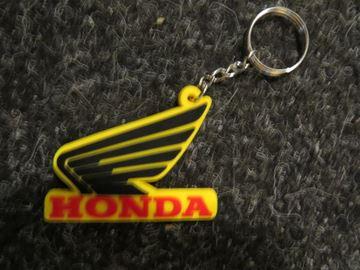 Picture of Keyring sleutelhanger Honda yellow