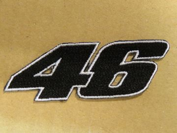 Picture of Patche opstrijk embleem Valentino Rossi #46 black