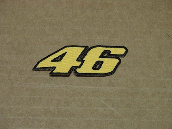 Picture of Patche opstrijk embleem Valentino Rossi #46 yellow