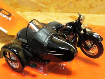 Picture of Harley Davidson sidecar  / zijspan FL Panhead 1948 1:18