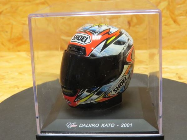Picture of Daijiro Kato Shoei helmet 2001 1:5