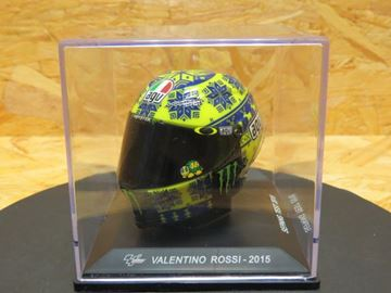 Picture of Valentino Rossi AGV helmet Sepang test 2015 1:5