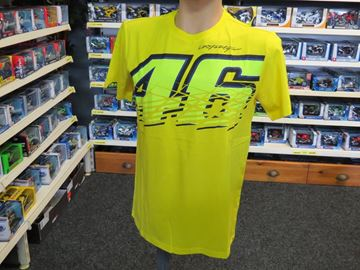 Picture of Valentino Rossi 46 t-shirt yellow VRMTS204201