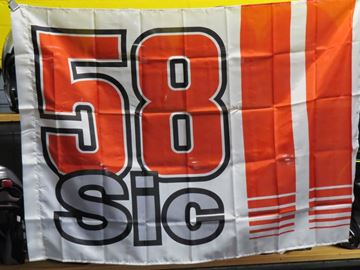 Picture of Marco Simoncelli 58 Sic vlag flag 1655017