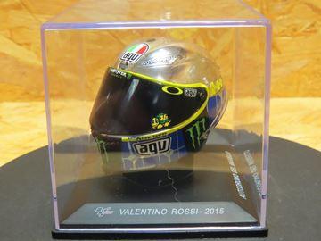 Picture of Valentino Rossi AGV helmet 2015 Mugello 1:5