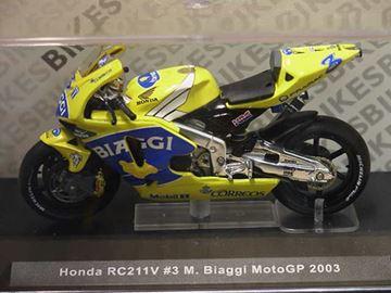 Afbeelding van Max Biaggi Honda RC211V 2003 1:24 ixo