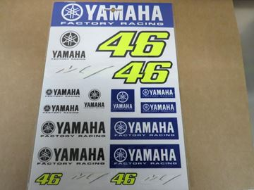 Picture of Valentino Rossi Yamaha dual stickerset YDUST273503