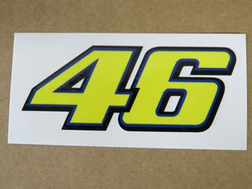 Afbeelding van Valentino Rossi Sticker 46 yellow 6 cm new style