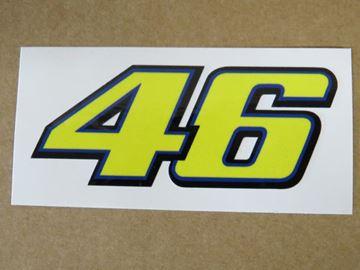 Afbeelding van Valentino Rossi Sticker 46 yellow 8 cm new style