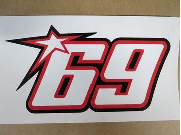 Afbeelding van Nicky Hayden #69 sticker