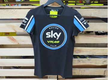 Picture of Valentino Rossi Woman Sky Racing team t-shirt SKWTS295704