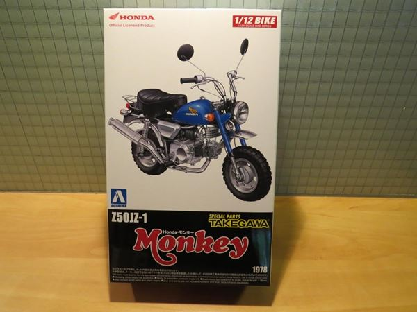 Picture of Bouwdoos Honda Monkey blue Z50JZ-1 Takegawa 1:12 Aoshima