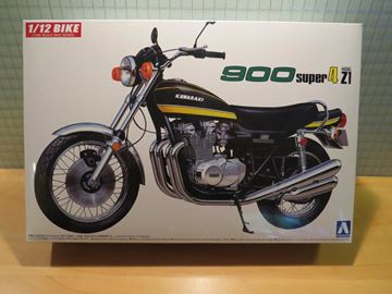 Picture of Bouwdoos Kawasaki Z900 Z1 super 4 1:12 Aoshima