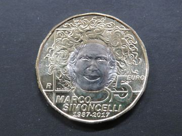 Picture of Marco Simoncelli 5 euro memorial coin