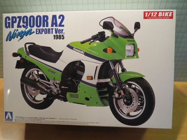 Picture of Bouwdoos Kawasaki GPZ900R 1:12 Aoshima 1985