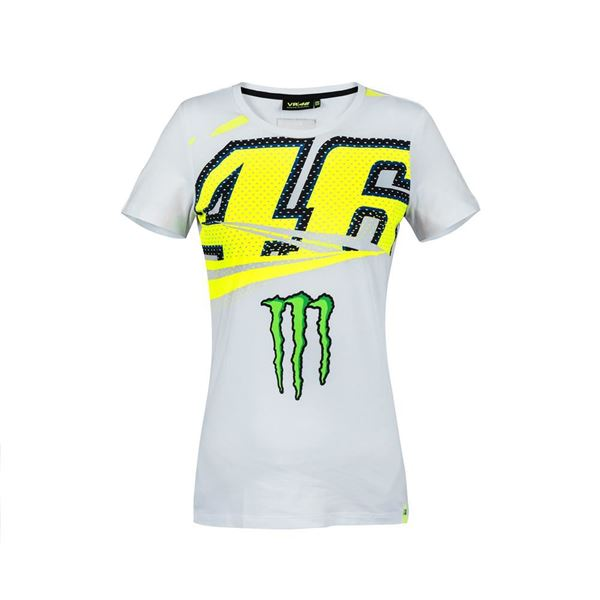 Picture of Valentino Rossi woman Monster Energy t-shirt MOWTS316406