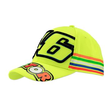 Afbeelding van Valentino Rossi #46 the doctor stripes cap pet VRMCA305028