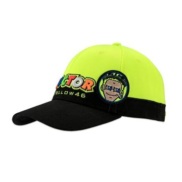 Picture of Valentino Rossi the doctor cupolino cap pet yellow VRMCA305403