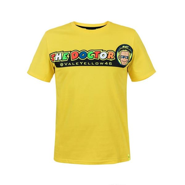 Picture of Valentino Rossi cupolino yellow t-shirt VRMTS305501