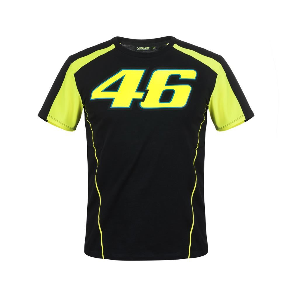 valentino rossi 46 t shirt black vrmts306004. Black Bedroom Furniture Sets. Home Design Ideas