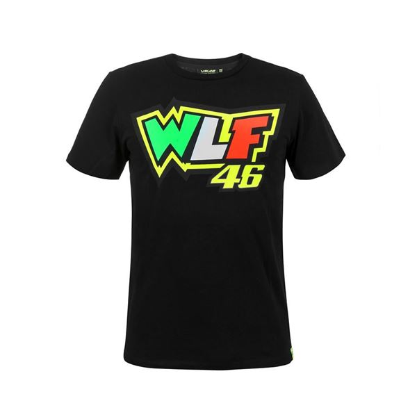 Picture of Valentino Rossi WLF 46 t-shirt black VRMTS306404