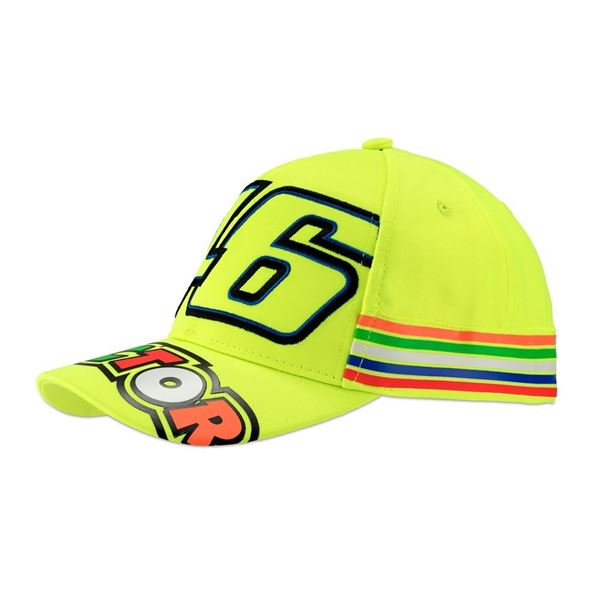 Picture of Valentino Rossi Kid 46 stripes yellow cap VRKCA307728