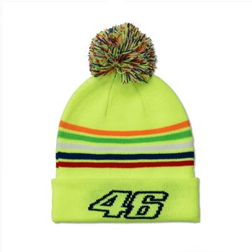 Afbeelding van Valentino Rossi Kid 46 the Doctor stripes Beanie muts VRKBE307828