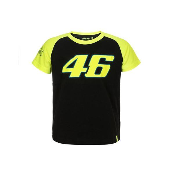 Picture of Valentino Rossi kid 46 black t-shirt VRKTS308204