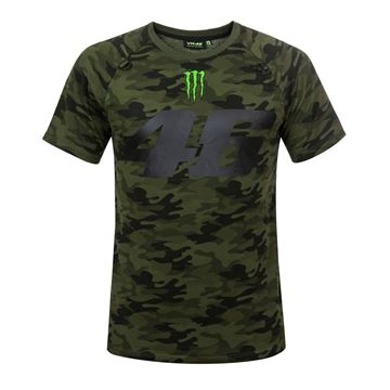 Afbeelding van Valentino Rossi 46 monster Camp camouflage t-shirt MOMTS317408