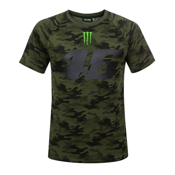 Picture of Valentino Rossi 46 monster Camp camouflage t-shirt MOMTS317408