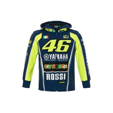 Afbeelding van Valentino Rossi kid  hoodie vest dual Yamaha YDKFL314909