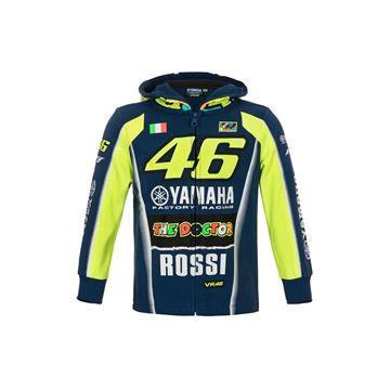 Picture of Valentino Rossi kid  hoodie vest dual Yamaha YDKFL314909