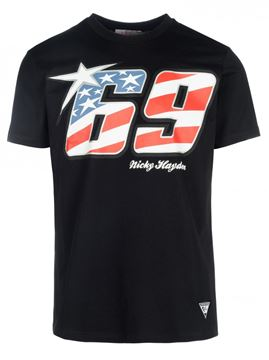 Picture of Nicky Hayden black #69 T-shirt 1834001