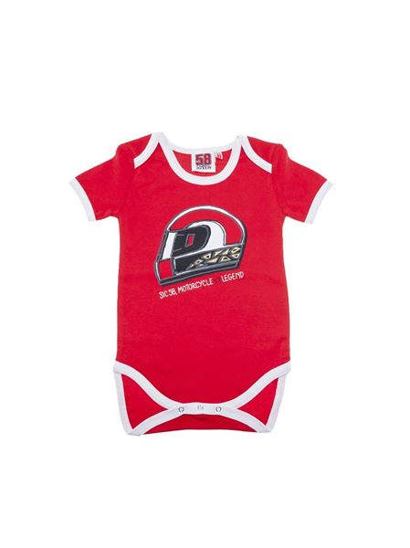 Picture of Marco Simoncelli #58 baby romper 1785001