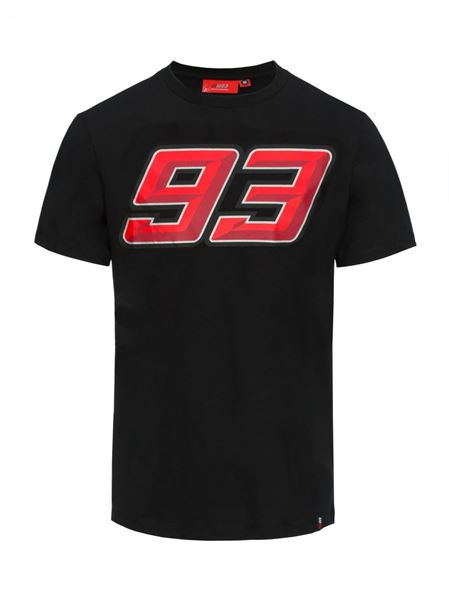 Picture of Marc Marquez #93 Fluo T-shirt black 1833009