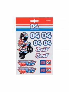Picture of Andrea Dovizioso #04 stickers medium 1852205
