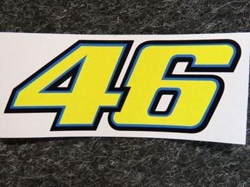 Afbeelding van Valentino Rossi Sticker 46 yellow 6 cm