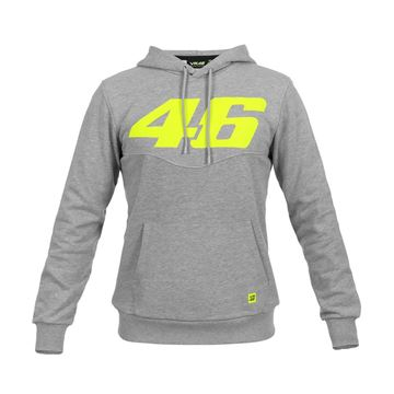Picture of Valentino Rossi Core large 46 hoodie grey COMFL325105