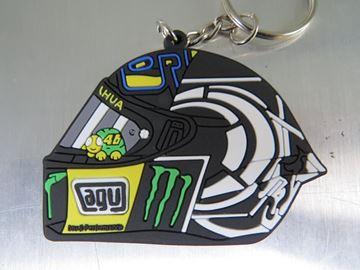 Afbeelding van Valentino Rossi helmet test 2013 rubber sleutelhanger keyring