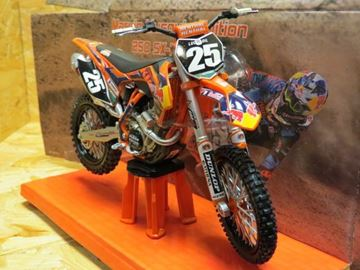 Picture of Marvin Musquin KTM 250 SX-F 2013 red bull team 1:12